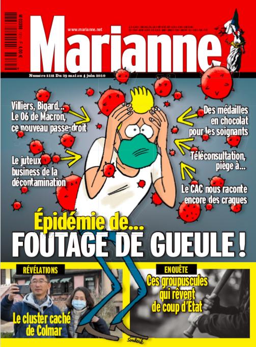 Épidémie de... foutage de gueule ! La une de Marianne cette semaine, en kiosque ce vendredi, et déjà disponible en ligne pour 1,99 €. 👉 bit.ly/2VMZlEI