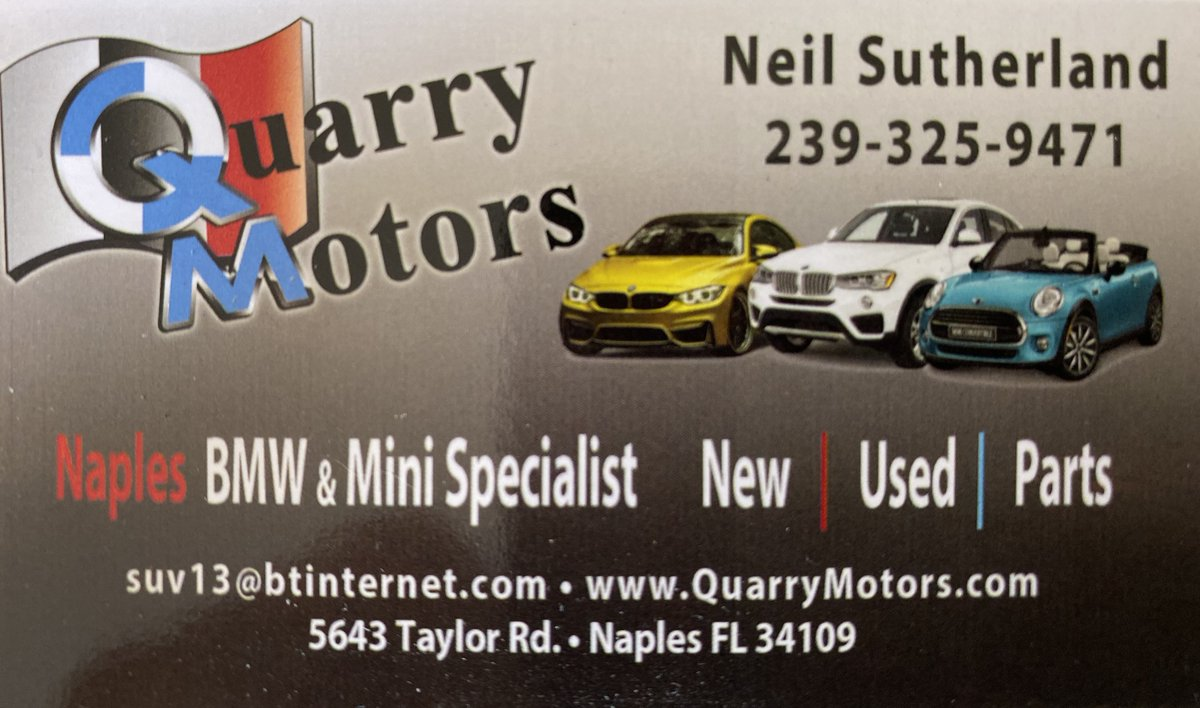 Call us for all your BMW parts needs, 239 325 9471.<br>http://pic.twitter.com/OIoqja8Guw