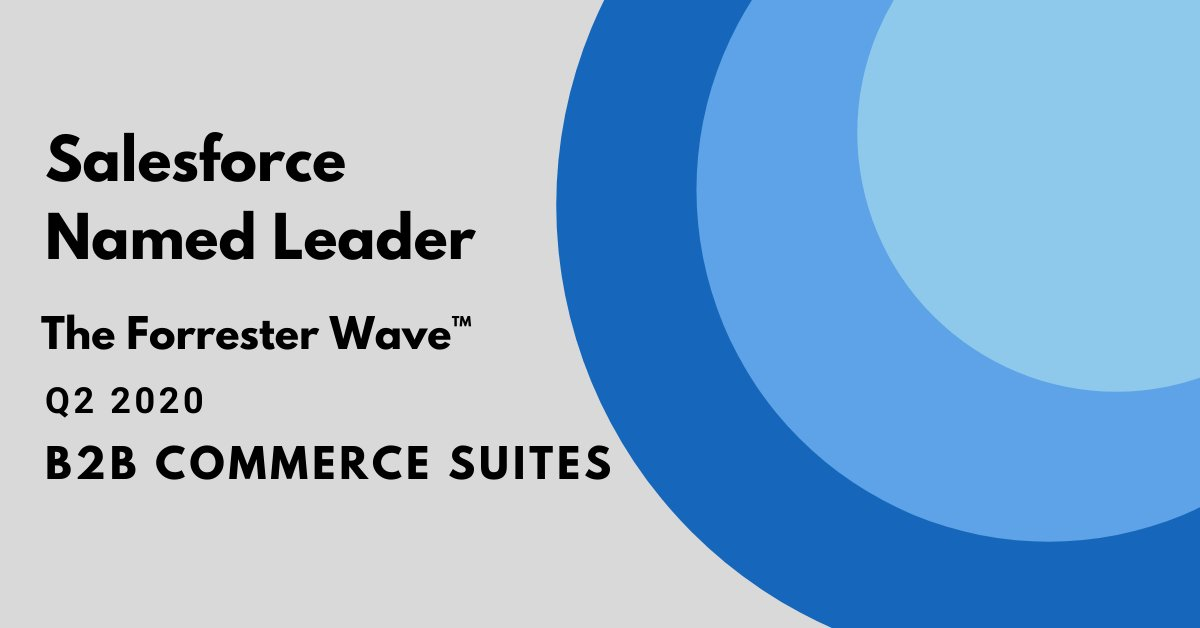 """Congratulations @Salesforce B2B Commerce for being named a """"Leader"""" on the @forrester Wave: B2B Commerce Suites. As a #salesforce partner, we are here to set you up for e-commerce success: https://t.co/YFKwhEUBNz https://t.co/hpOSVfecwg"""