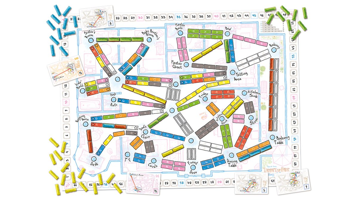 Dicebreaker On Twitter Ticket To Ride Stay At Home Is A Free Print And Play Expansion That Swaps Travelling By Train Across The World For Journeys Around Your Home And You Can Download