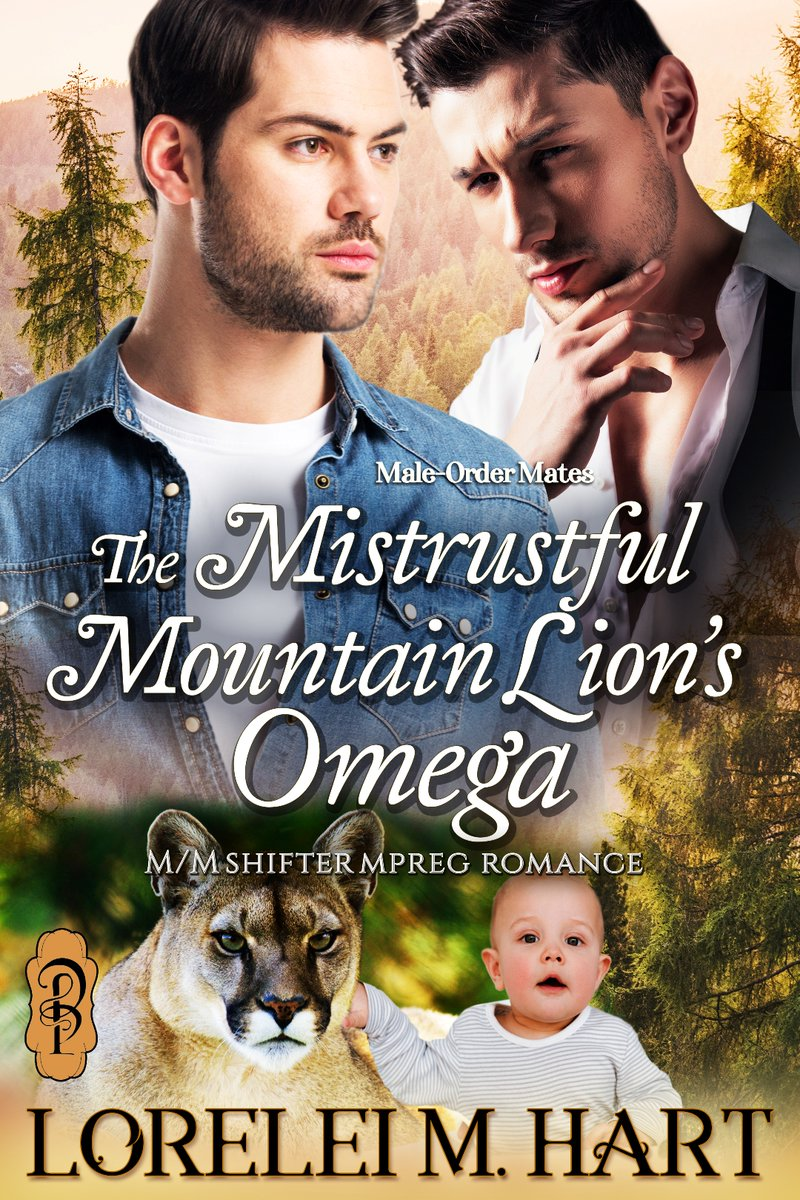Jagger is rugged and bearded and all the things I'd always claimed I didn't want. But, I can't walk away. #PreOrder THE MISTRUSTFUL MOUNTAIN LION'S OMEGA by Lorelei M. Hart  @DecadentPub #romance #MLM #MPreg #omegaverse #PNR #books #reading