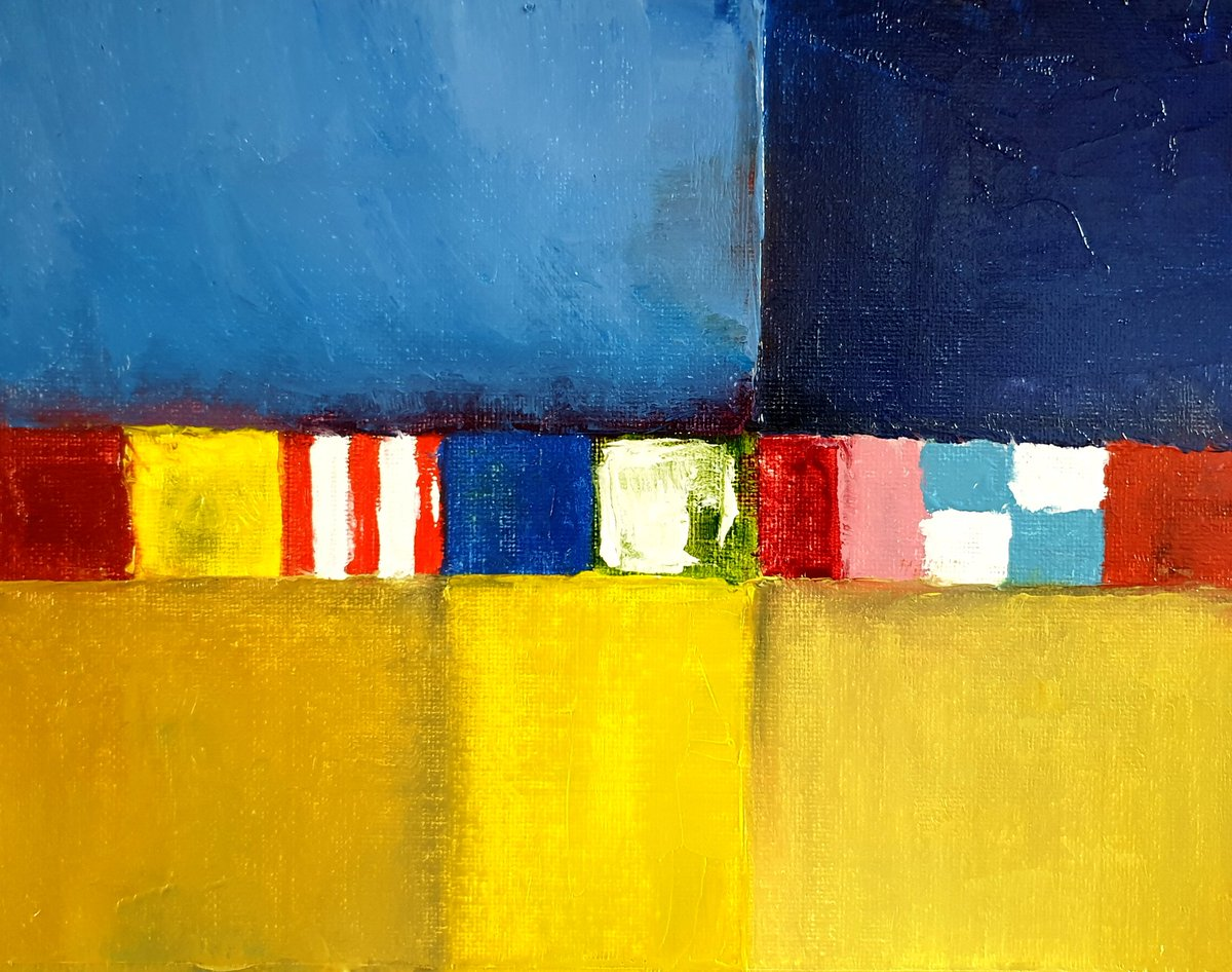 'Beach huts at Well Next the Sea' - Abstract oil on canvas #abstractart #art #Norfolkpic.twitter.com/5J6NaGonWl