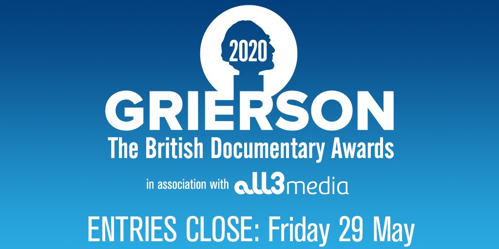 Don't forget, you have until Friday 29 May to enter the @griersontrust's #BritishDocumentaryAwards 🏆🎥! You can read about the 14 categories plus the criteria for entering on their website - submit today! https://t.co/E4Wm02hNT8 https://t.co/CAEADQYDc9