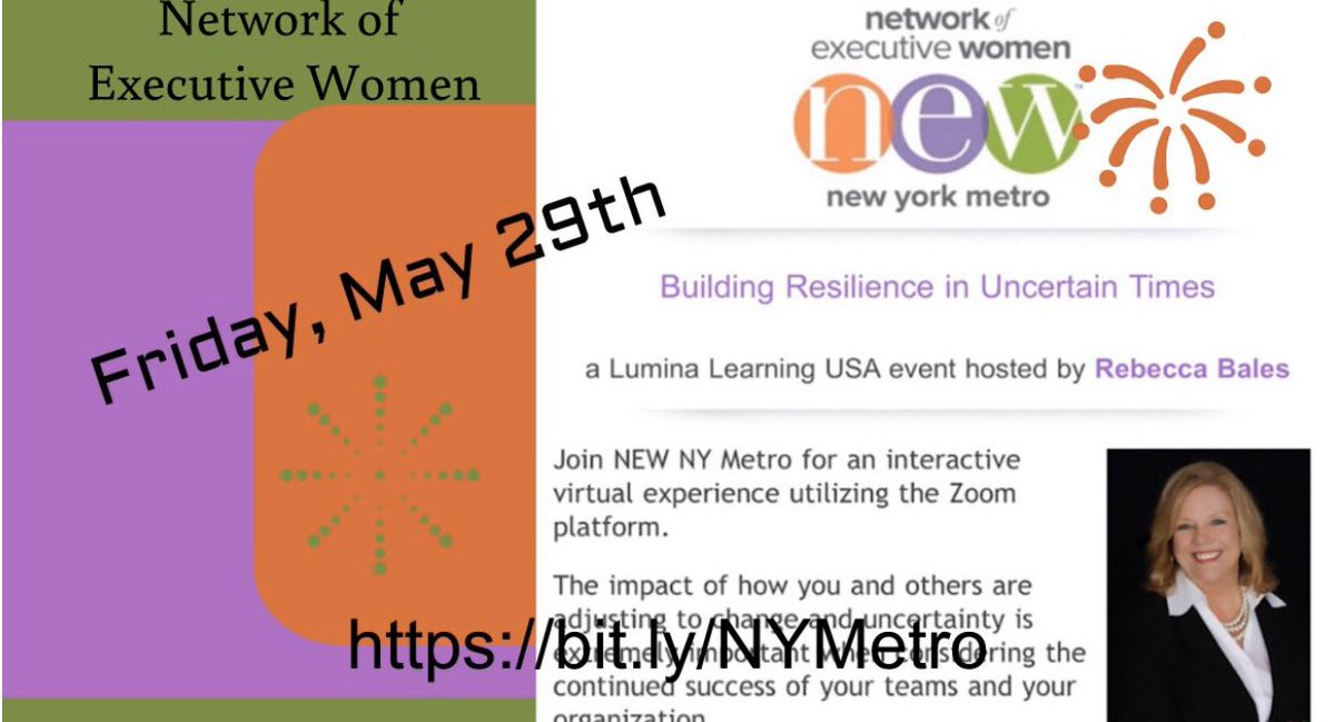 """.@NEWNational #NYMetro -  https:// bit.ly/NYMetro     - Join @RebeccaLBales - Friday -5-29-20 - """"Building Resilience In Uncertain Times""""<br>http://pic.twitter.com/5miohpaMLa"""