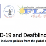 Image for the Tweet beginning: People with deafblindness are most