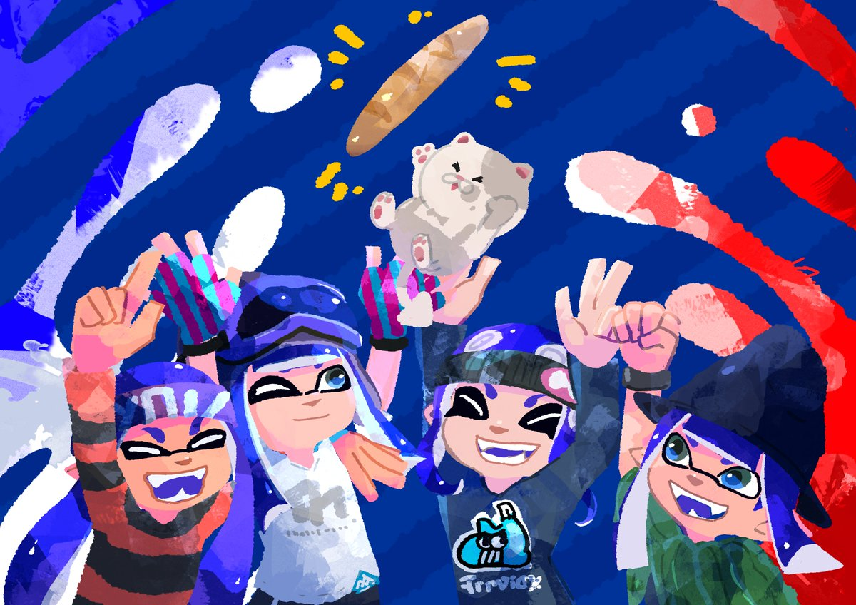 A lot has changed in 5 years but my passion for splatoon (end lil'jud) didn't waver ! I'm glad to be part of the baguette🦑community ! I met 2 of my bestfriend here and I have great memories of the competitive and art side ! Thank you squiddous ! ❤️ #SplatArt #スプラトゥーン5周年