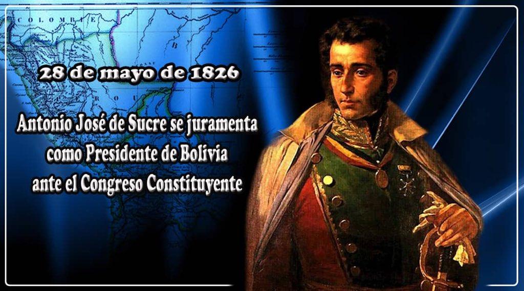 """El cumanés universal Antonio José de Sucre, al prestar juramento como Presidente de Bolivia, expresó con espíritu de entrega y compromiso absoluto con la Independencia suramericana: """"MI CONCIENCIA ME ESTIMULABA AL RETIRO; MI RECONOCIMIENTO A COMPLACEROS"""". ¡Viva el Gran Mariscal! https://t.co/S8hMYMYlTn"""