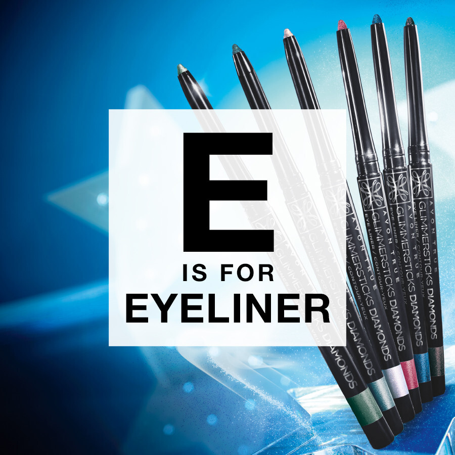 E is for… Exaggerated Eyeliner!   Have a test with new colours, maybe an eye-catching Alaskan blue, or even try glitzy eyeliner! Make a statement with your look!    #BeautyAZ #ExaggeratedEyeliner #Avon pic.twitter.com/4VxDeYxWBr