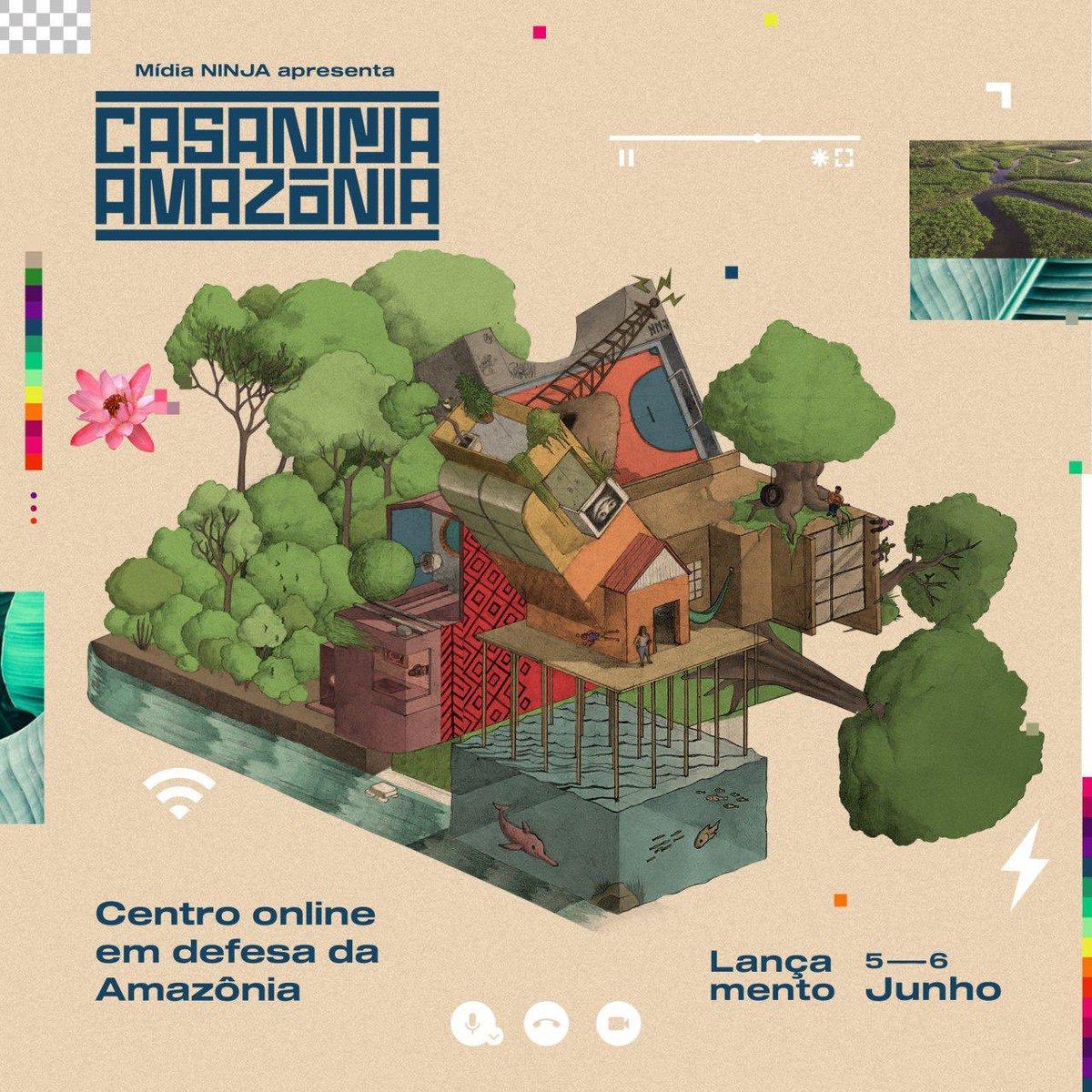 Nos dias 5 e 6 de junho realizaremos um evento de inauguração digital com encontros, debates e mostras artísticas, tudo aberto e gratuito para marcar o lançamento de nosso centro online de mobilização e experimentações criativas. #MidiaNinja #NINJAambiental #CasaNinjaAmazonia