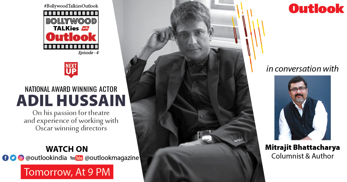 From humble beginnings to working with #AngLee, watch @_adilhussain's journey in #theatre and #movies, as discussed with columnist and author @MitrajitB on #BollywoodTalkiesOutlook episode 4, Tomorrow at 9pm.  #LivewithOutlook #AdilHussain #Bollywood #StayHome #StaySafepic.twitter.com/AvTprgfkFE