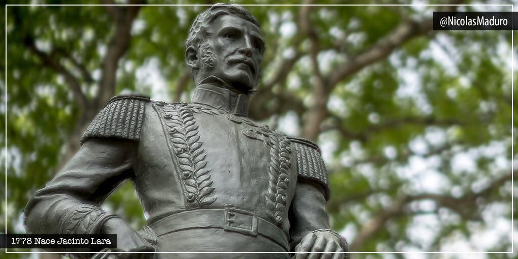 Celebramos 242 años del natalicio del gran Jacinto Lara. Patriota barquisimetano que luchó por la causa independentista, junto a nuestro Libertador Simón Bolívar. Honramos su memoria como símbolo de la grandeza y heroísmo presente en nuestros héroes de la Independencia. https://t.co/4KJqezKj83