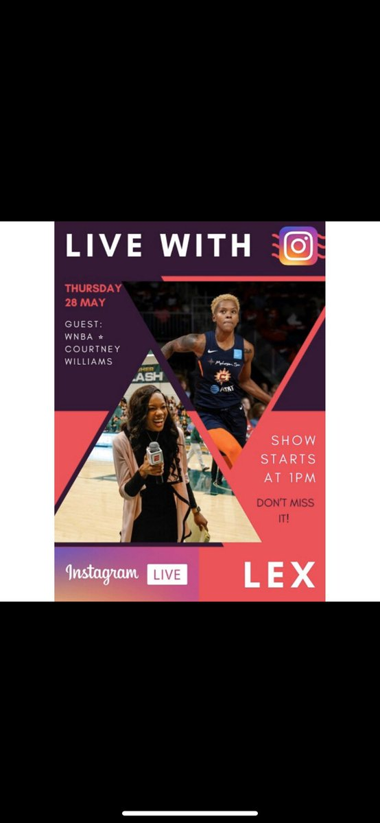 It's today @1pm EST !! Join my live on Instagram @laflexx_ . Join the conversation ! #WNBA #AtlantaDream #Basketball https://t.co/4O2g8lBoHB