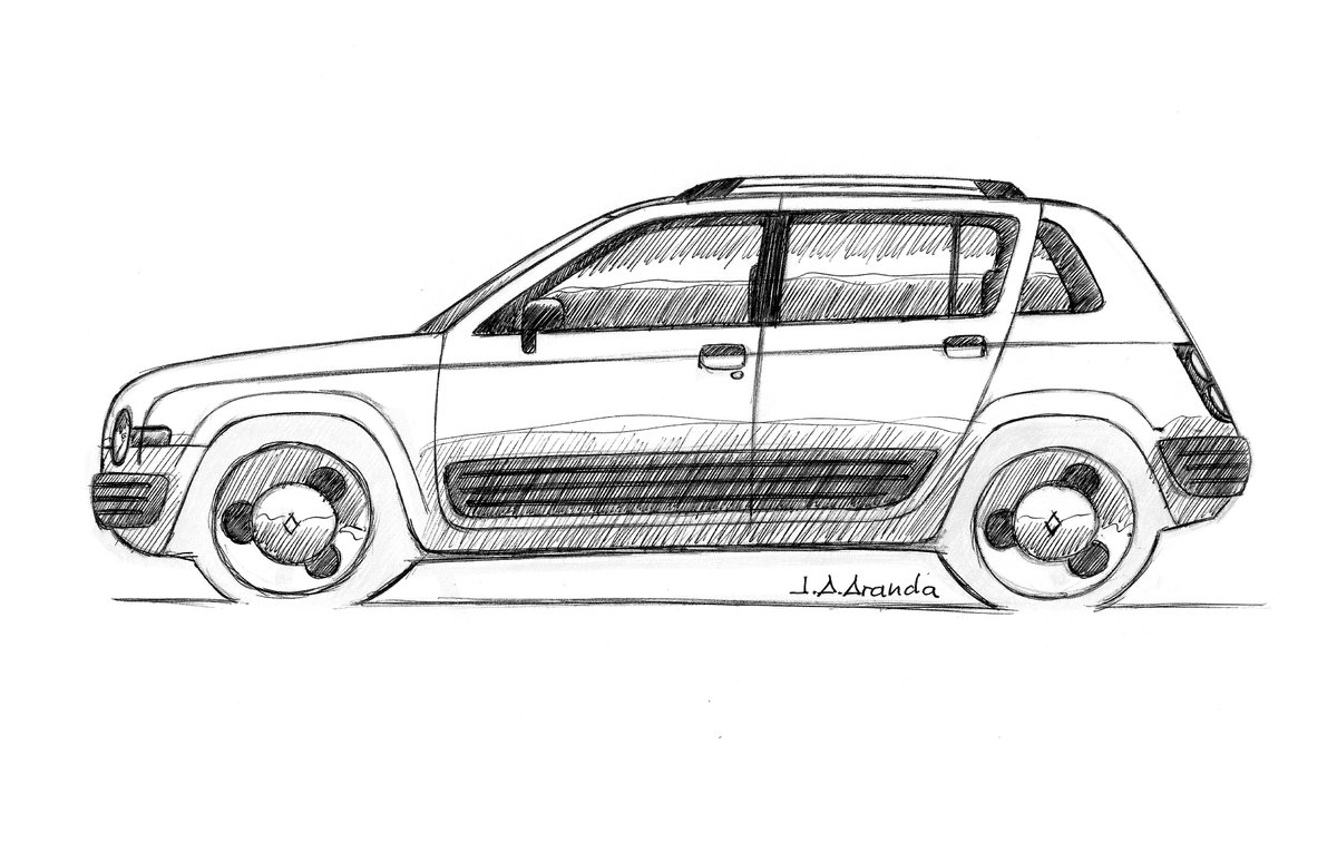 Weird doodle of the day, today about a #Dacia Sandero based new #Renault 4L. pic.twitter.com/oTtfchHMcu