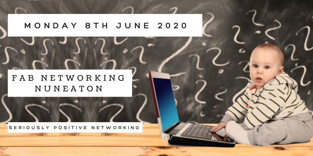 Our next FaB Nuneaton meeting is ONLINE on Monday 8th June at 6 pm  Click the link to book your place to visit us! https://bit.ly/2pXkxsu #findabiz #networking #hinckley #coventry #rugby #nuneaton #tamworth #localbusiness pic.twitter.com/49bFQ1YPUp