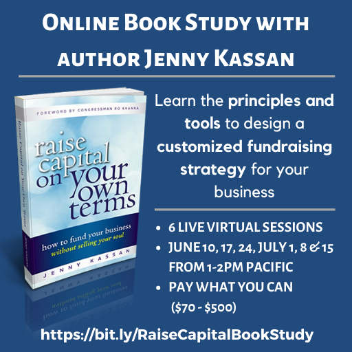 You don't have to go the 'Silicon Valley' route to raise money for your business. Join @jennykassan beginning June 10 for an online book study where she will lay out the vast range of capital-raising strategies available to #MissionDriven entrepreneurs: https://bit.ly/RaiseCapitalBookStudy…pic.twitter.com/crWALdQivq