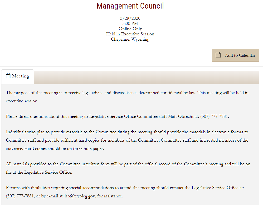 Management Council meeting exclusively in executive session on Friday. Just announced yesterday afternoon. pic.twitter.com/7NDBp5JObT
