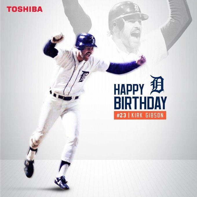 Detroit Tigers: Happy birthday to Kirk Gibson! ...       .