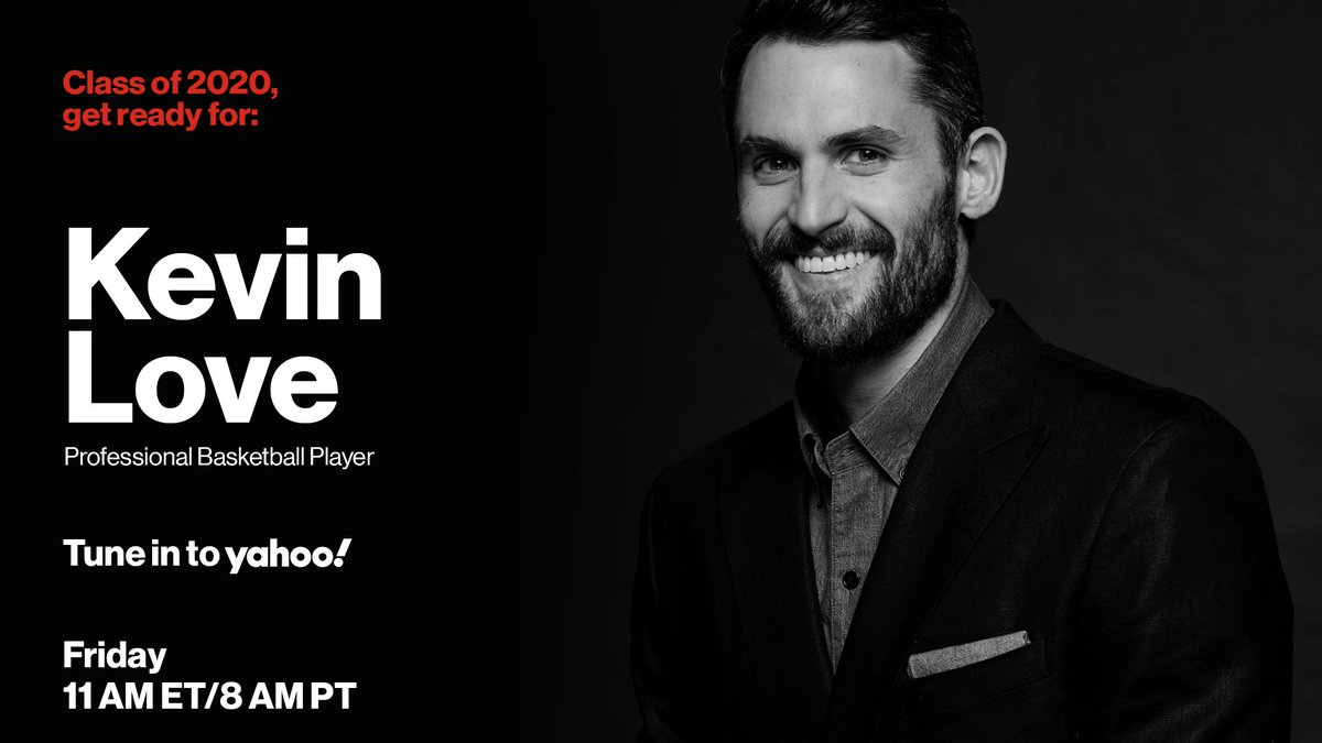 Tomorrow, @KevinLove is talking to the #Classof2020 about advice for the future, his words of wisdom, and a real time Q&A session. Watch #ReadyForAnything at 11a EST here on @YahooSports.