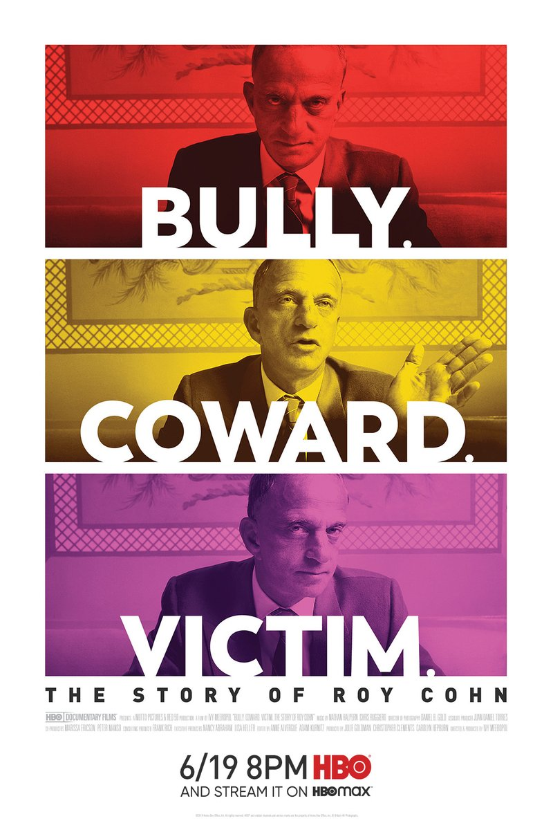 Bully. Coward. Victim. The Story of Roy Cohn premieres Friday, 6/19 at 8pm on @HBO. #BullyCowardVictim https://t.co/BCFXa7FNnU