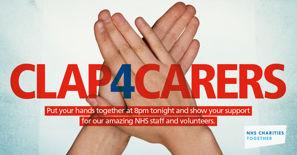Are you ready? It's nearly 8pm and time to make as much noise as possible for our amazing #NHSHeroes to thank them for the incredible work they do every day! Join us to #ClapForOurCarers now 🌈👏👏