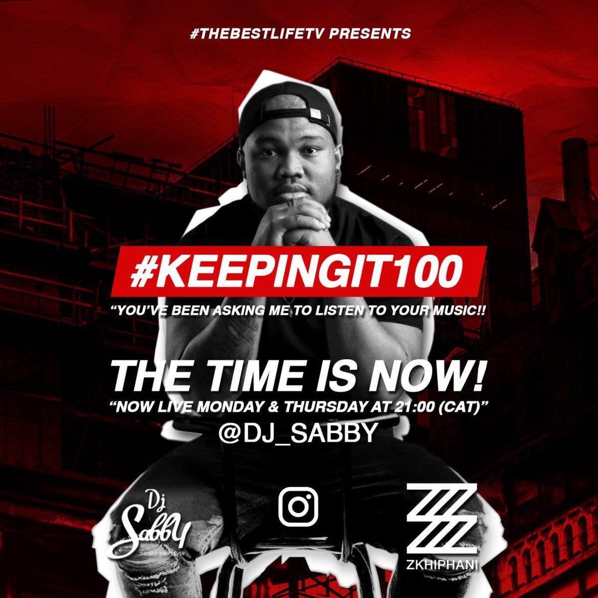 #KeepingIt100 Thursday!!!   #Beat makers today it's all about you. Musicians are also welcome but beat makers are the VIP's! Let's connect 21:00 (CAT) on my IG pic.twitter.com/1ogeyGfGjl