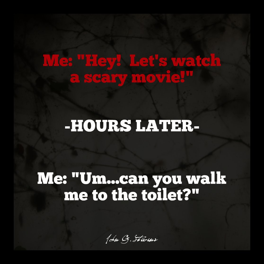What movie makes you do this?    #JohnGStevens #JGS #Humor #ScaryMovie pic.twitter.com/hQrBZCS7NO