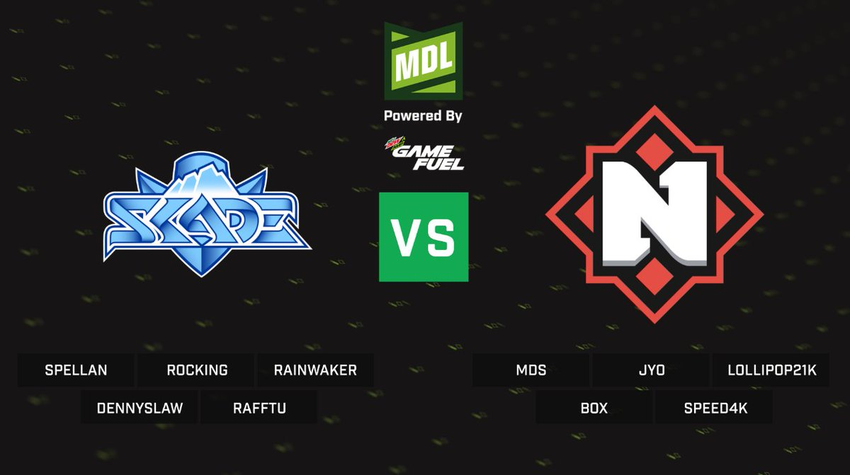 Live with the ESEA Mountain Dew League S12 Australia Thursday Action with:  @skadegg v @nemigagg at 1800 CEST  This blockbuster will be live on https://t.co/OvXaxlOl1X #esea #mountaindew #csgo #esports https://t.co/nmLsWz8OuS