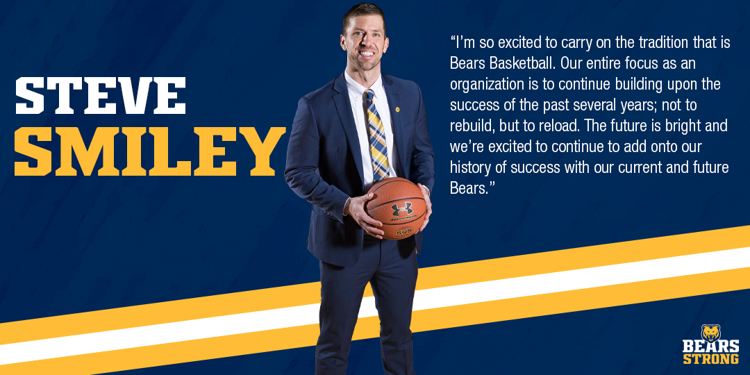 .@coach_smiley knows a lot about getting Ws!  🏀 353-163 Coaching Record 🏀 153-44 Head Coaching Record 🏀 119-75 NCAA DI Record  #BearsStrong🐻🏀 https://t.co/eNmOXMQDnz