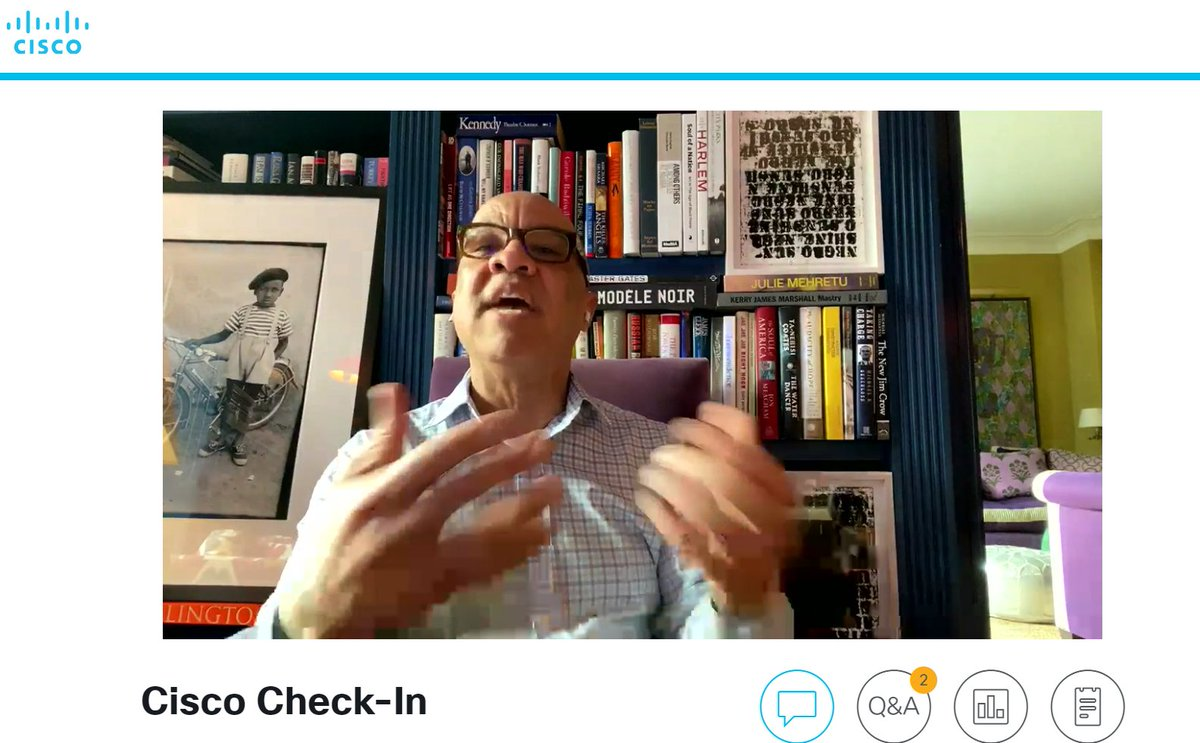 Yesterday during our @Cisco ELT update, we had the pleasure to hear from @darrenwalker. The candid conversation was timely and truly blessed my soul. #lovewhereyouwork #WeareCisco  #InclusiveWorkPlace<br>http://pic.twitter.com/UFpmrD9Yrq