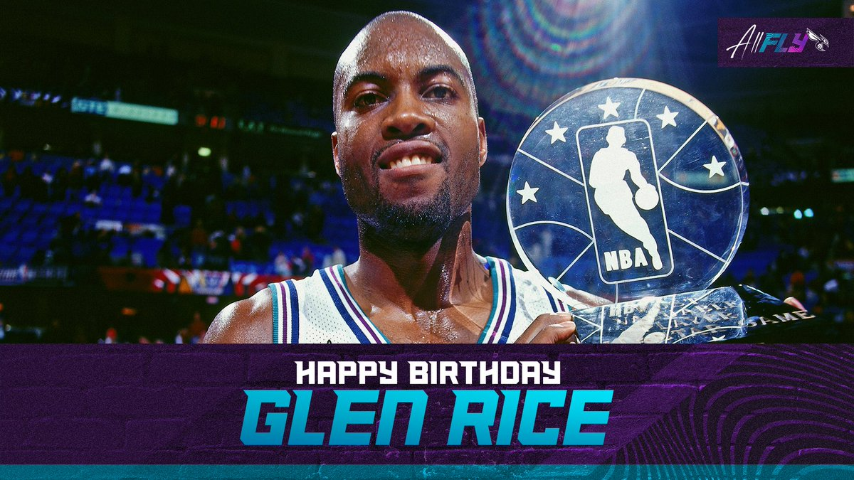 We want everyone to wish 3X NBA All-Star @glenrice41 a HAPPY BIRTHDAY! #AllFly