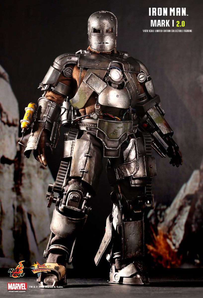 Can we talk about how badass the Mark 1 armor from the first #IronMan movie was? That design rocks, and it was awesome in the film. <br>http://pic.twitter.com/KVGEhMzopE