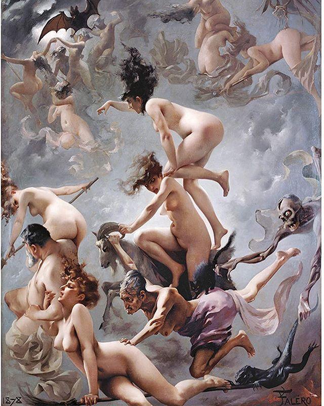 Witches going to their Sabbath by Luis Ricardo Falero, 1878