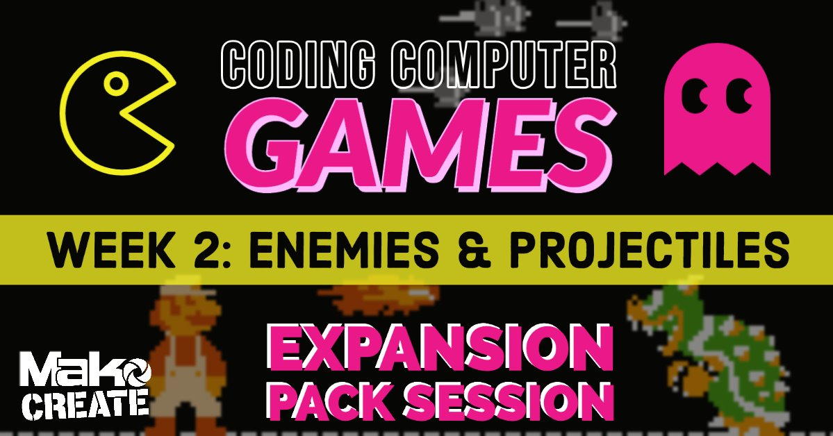 Want to level up your Computer Game Coding skills?  Then join our Expansion Pack  On Monday 1st June, we will be going showing you how to improve your enemies and projectiles! Grab your tickets here:  https://www.eventbrite.co.uk/e/coding-computer-games-expansion-pack-sessions-tickets-106636721304… pic.twitter.com/DU6wQs6qcR