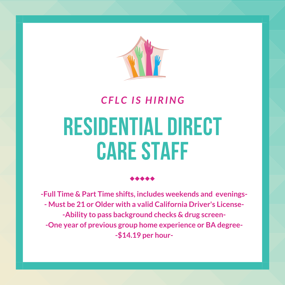 CFLC is Hiring!   Check out full job description and details on our website. Visit https://www.cflckids.org/careers  #careers #hemet pic.twitter.com/t9vAk8jecq