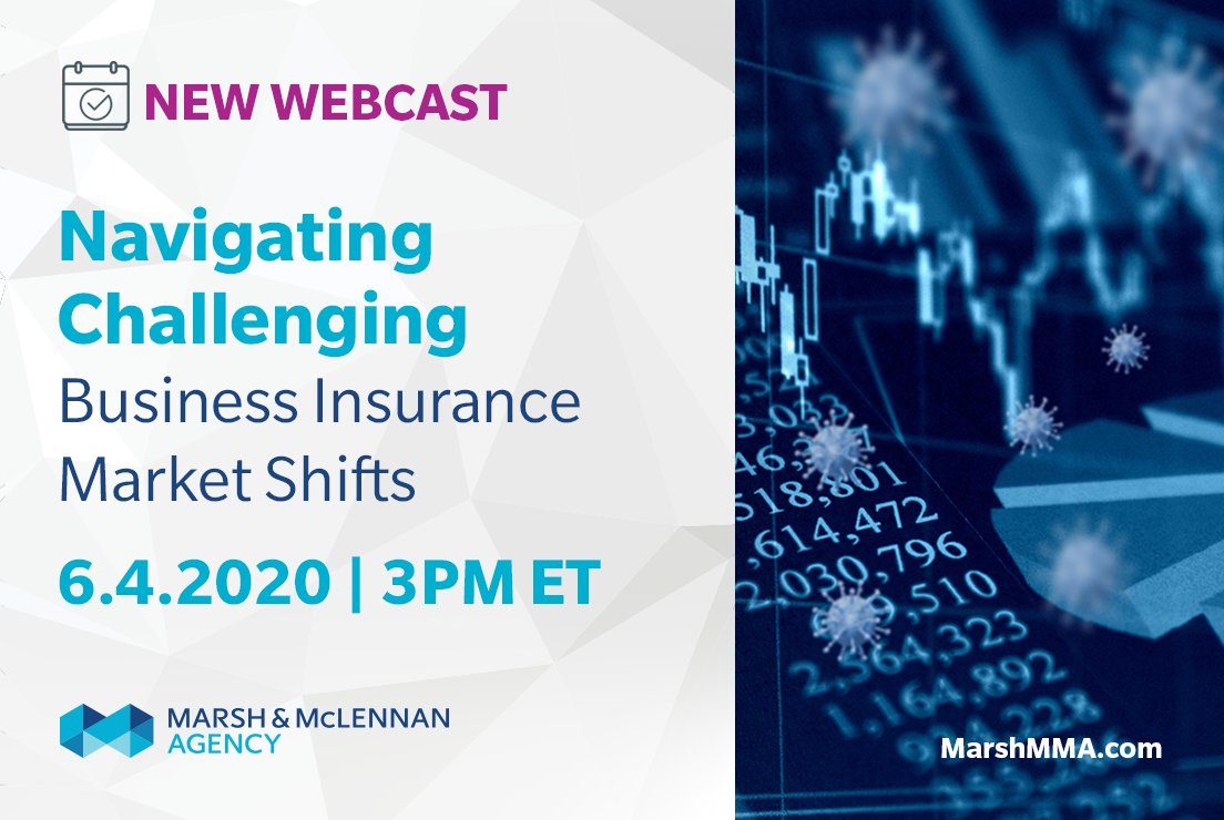 Join speakers from MMA Property, Casualty, and Executive/Cyber teams who will share their insights on how to weather the 10th consecutive quarter of rate increases. Register now: https://bit.ly/3eqEGyk #MarshMMA #BusinessInsurance pic.twitter.com/ditvYn1j2S