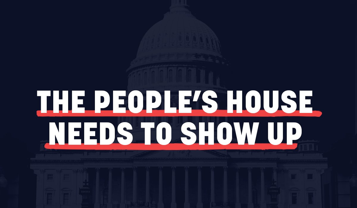 All across America, essential workers are showing up and doing their job. The Peoples House shouldnt be any different.