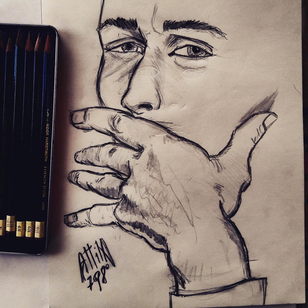 #ritratto #disegno #disegnoamatita #kohinoor #quadernodeglischizzi #biancoenero #portrait #drawing #pencildrawing #kohinoorhardtmuth #sketchbook #blackandwhite https://t.co/G5Stpdt8Hw