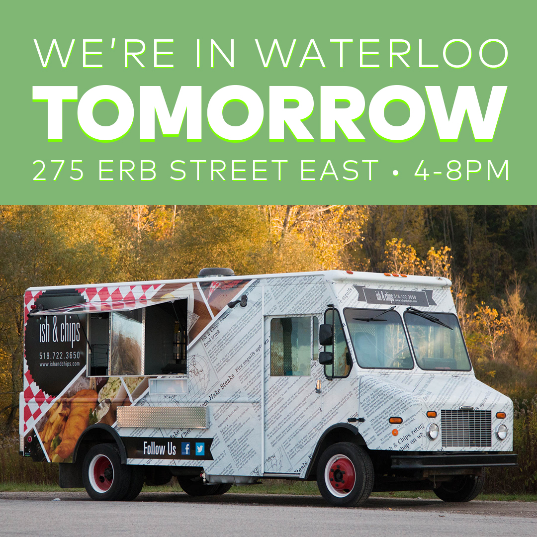 We are at Parkminster United Church for Erb StrEAT EATS tomorrow from 4-8pm! Get your fish on at 275 Erb St E, #Waterloo! Please remember to practice social distancing! #WRAwesome #KWAwesome #KWFoodTrucks #KitWat #KWRegion #Kitchenerpic.twitter.com/jmbvd7ZnMq