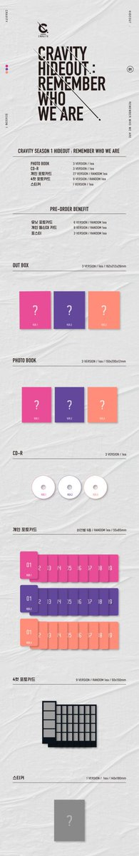 PO Spring Berry  ALBUM CRAVITY - HIDEOUT (Remember Who We Are) X SELLKOR   Price : 160k/versi  DP : 80k  Include ems, tax  Sealed  No poster  Bisa pilih versi   Close : 1 Juni 2020  #Cravity<br>http://pic.twitter.com/Xw4rodNR6k
