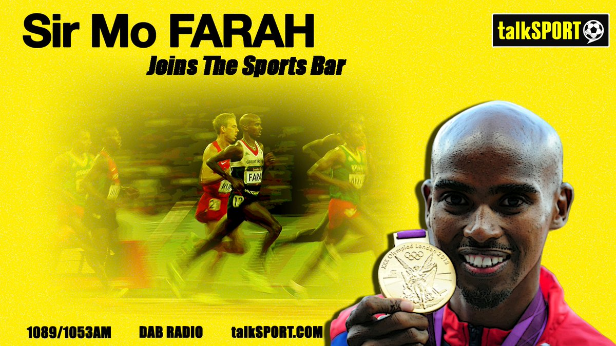 TONIGHT: @Mo_Farah on Sports Bar He joins @AndyGoldstein05 & @JasonCundy05 to chat: ✅ That famous Super Saturday ✅ Supporting #AFC ✅ What he's up to in lockdown Don't miss this 👊 📻 Tune in → talkSPORT.com/Live
