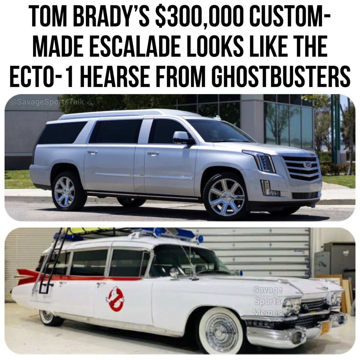 Who you gonna call?  . .   #NFL #NFLmeme #NFLmemes #football #footballmeme #footballmemes #meme #memes #sports #sportsmeme #sportsmemes #tampabay #bucs #buccaneers #tombrady #tb12 #cadillac #escalade #ghostbusters #hearsepic.twitter.com/MTDMpQy7fX