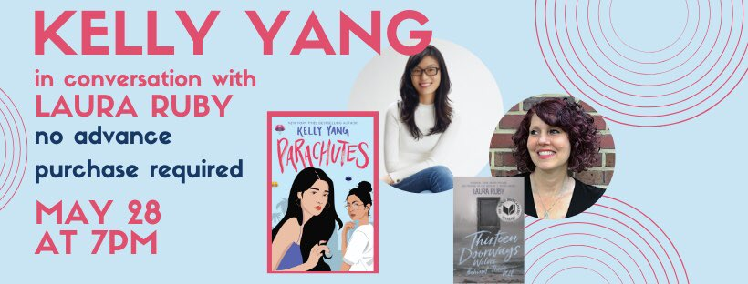 TONIGHT! Join @kellyyanghk and @thatlauraruby for the launch of Parachutes.  They'll be discussing campus sexual assault in the wake of Title IX changes.  An important and timely discussion you'll want to be a part of. Click the link below to register!