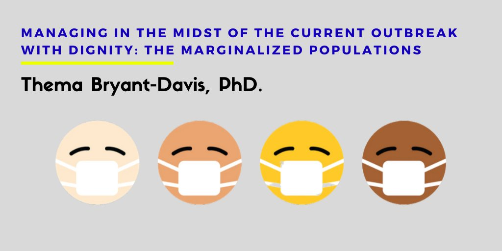 Thema Bryant-Davis, PhD. Managing in The Midst of The Current Outbreak with Dignity: The Marginalized Populations. This episode is sponsored by the Trauma Therapist   2.0. Listen to Dr. Thema's interview here: https://t.co/ZzxaoUwogW https://t.co/0wAklzKeRk