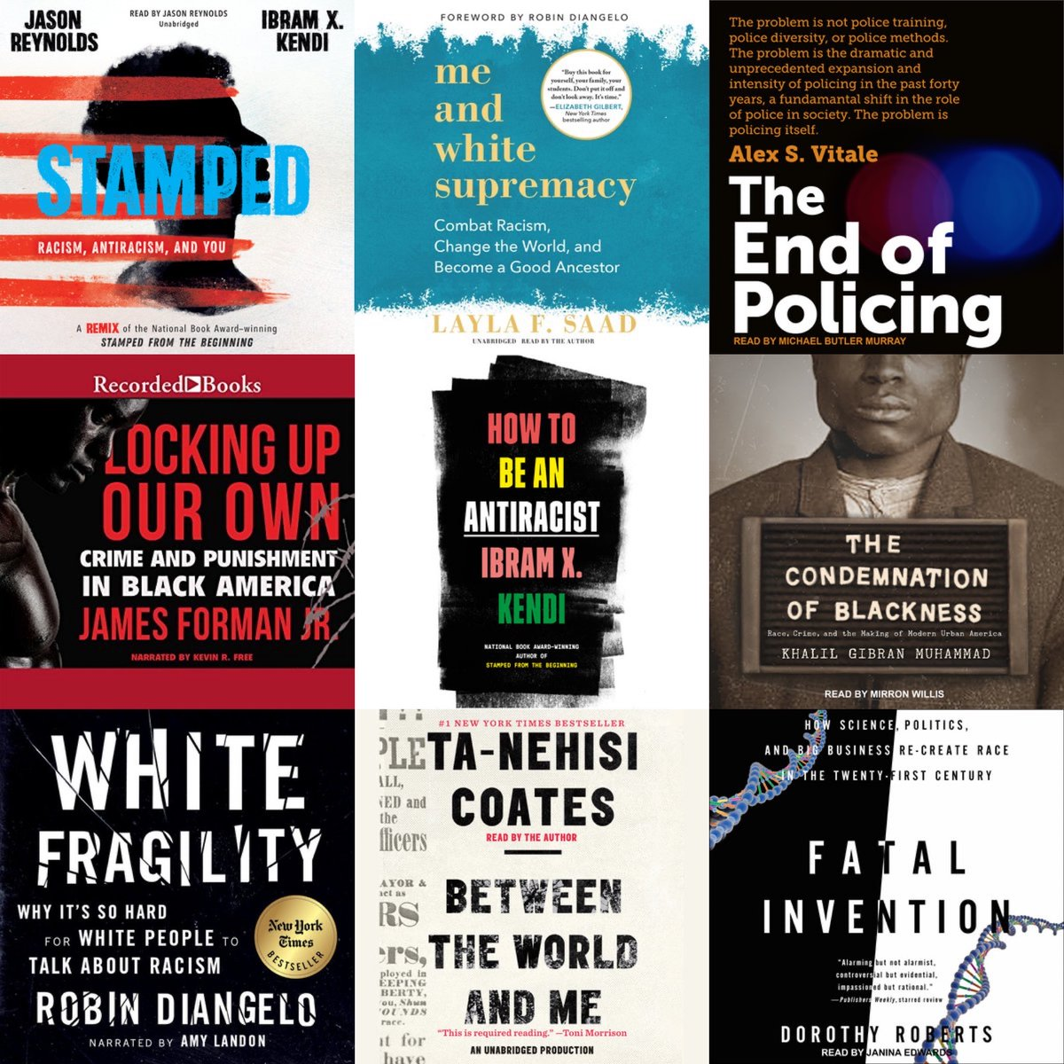 We put together a playlist of audiobooks that educate about racism, antiracism, white fragility, and more.    https:// libro.fm/playlists/requ ired-reading   …  #PullUp #BlackLivesMatter <br>http://pic.twitter.com/AHnWIe5djb