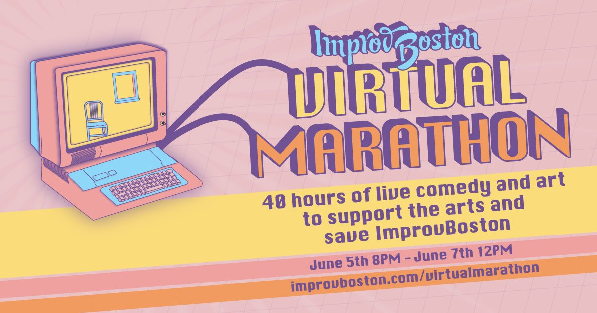 The Future of @ImprovBoston is Uncertain - their theater is in danger of closing.  Beginning Friday, June 5th at 8PM, Improv Boston will host a 40 hour, multi-day, telethon-style comedy marathon in support of the theater.   Info and donations at: https://t.co/wth2EY6o0o https://t.co/RFobCxrlxV