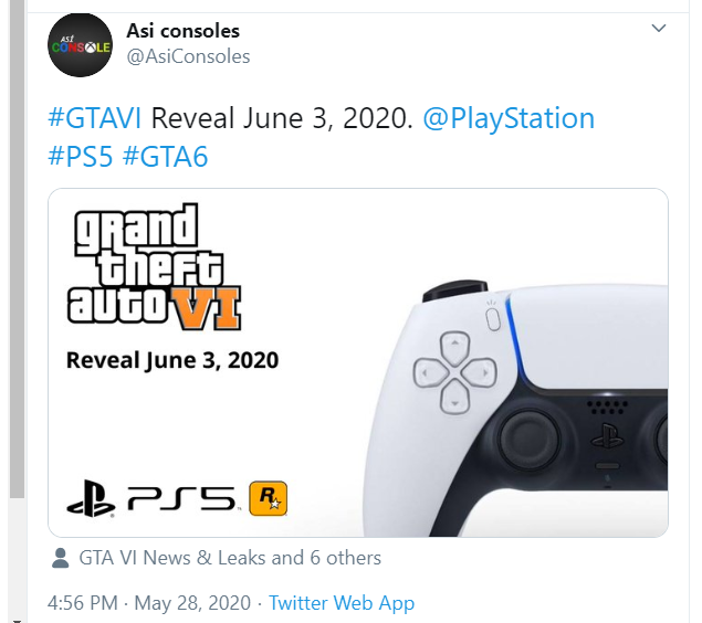 The logo is fake. Earlier i tweeted and said ''GTA 6 might be teased, announced and trailered next week''. The 'Mel Gibson picture' may have something to do with GTA 6. I could be wrong. #GTAVI #GTA6 <br>http://pic.twitter.com/wVPf2xEWMT