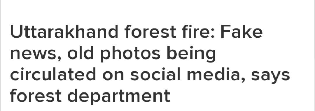 #UttarakhandForestFire this is not the time to. play with human emotions. As there is no update. from government and any superior about huge mass in #uttarakhandfire. Those pictures has been taken frm. chrome gallery As already 2020 is bumping with us sostopspreading humours https://t.co/XdP78usGSn