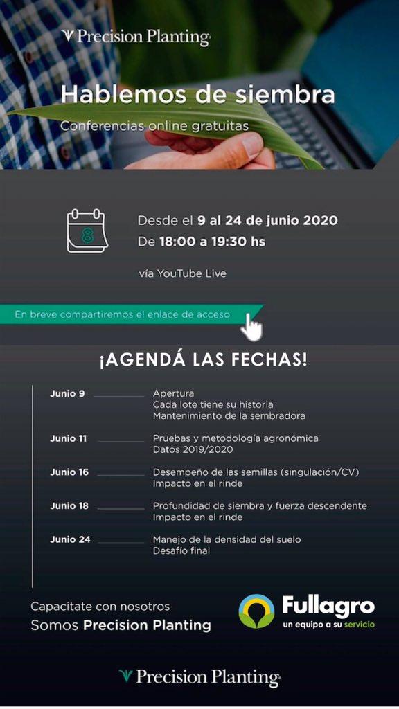 No te pierdas las #conferencias online y gratuitas sobre #Siembra y #Agtech de @PPlantingARG   Conocé la agenda y preparate Pronto compartiremos el enlace para que puedas participar!  pic.twitter.com/rVdzlYMVMF