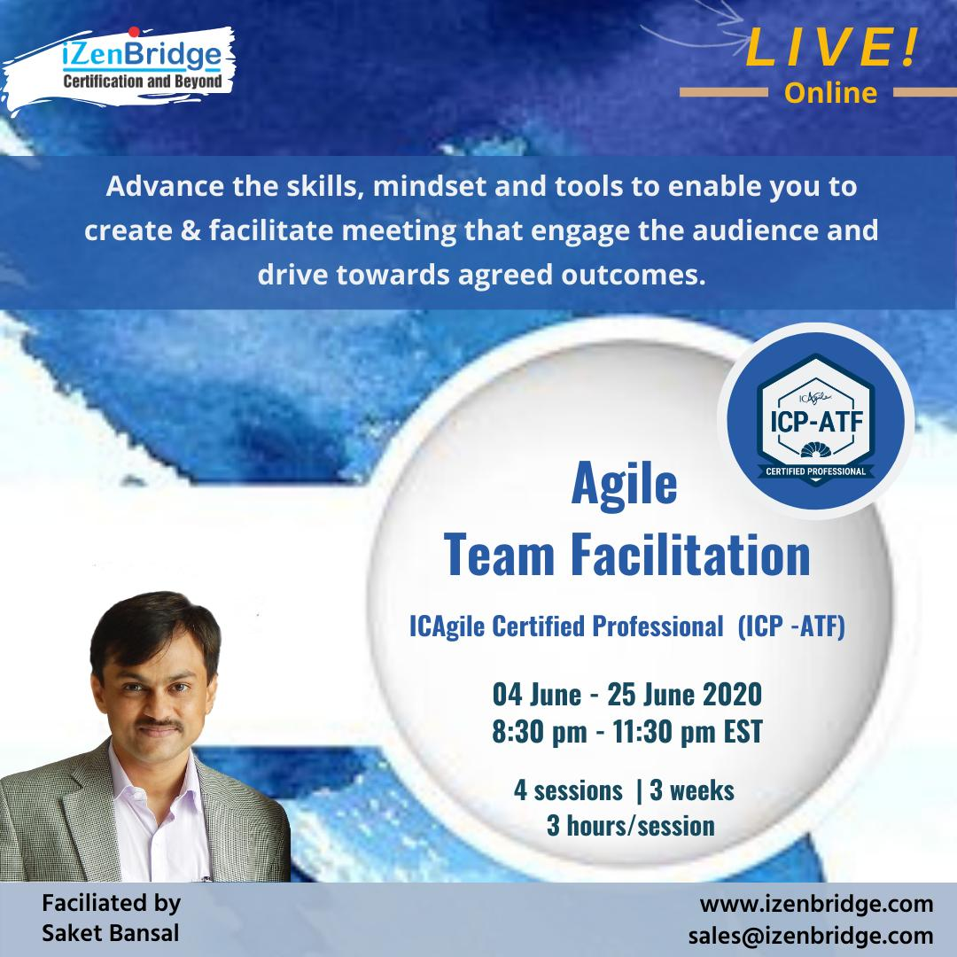 We are conducting an Online live  ICAgile Certified Professional- Agile Team Facilitation (ICP-ATF) with Saket Bansal  For more Details : https://t.co/kHxZqfm0Bt  Whatsapp: +91-9990451444  Email us: sales@izenbridge.com  #agile #agilecoach #facilitation #teamfacilitation #icagile https://t.co/ES9s3CoRvi
