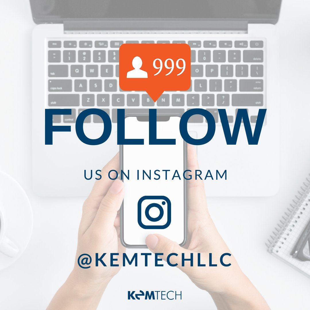 Hey we're on Instagram! Follow Us @KemTechLLC to stay updated all things KemTechnology!   #technews #Instagram #KemTech #Technology #informationsystems #ITpic.twitter.com/1esrvG1Nas
